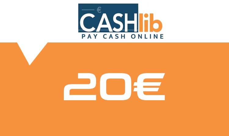 Coupon Cashlib 20€ sur internet - Gueez