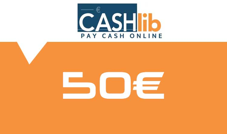 Coupon Cashlib 50€ sur internet - Gueez