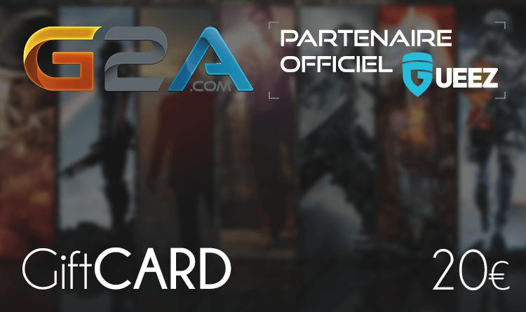 Coupon Giftcard G2A 20€ sur internet - Gueez