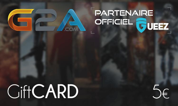 Coupon Giftcard G2A 5€ sur internet - Gueez