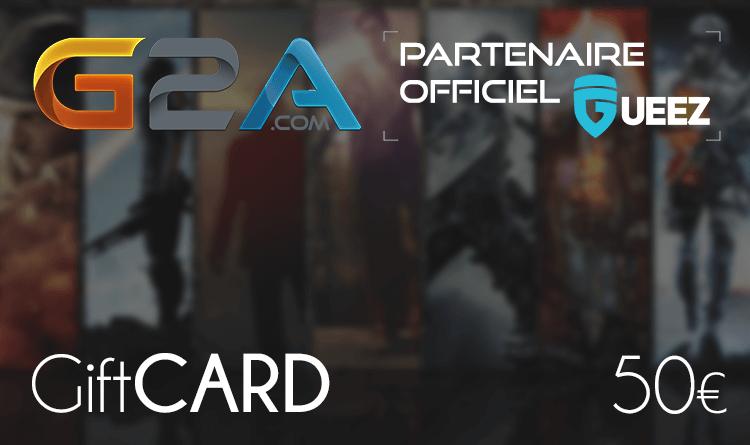 Coupon Giftcard G2A 50€ sur internet - Gueez