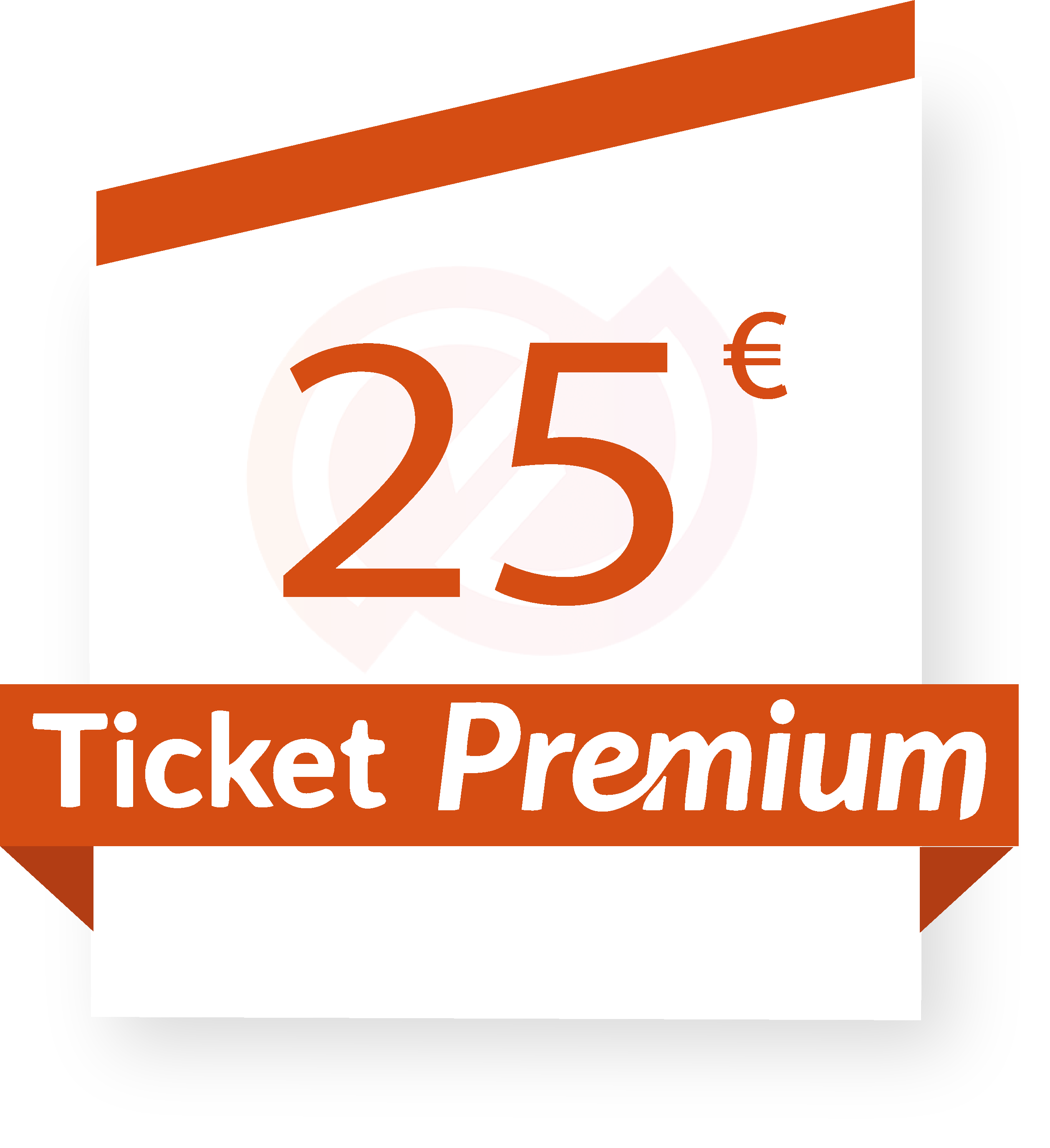 Coupon ticket-premium-25-euros